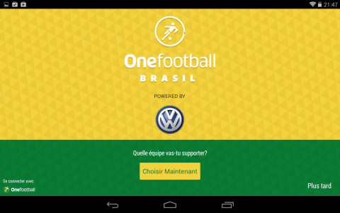 onefootball accueil